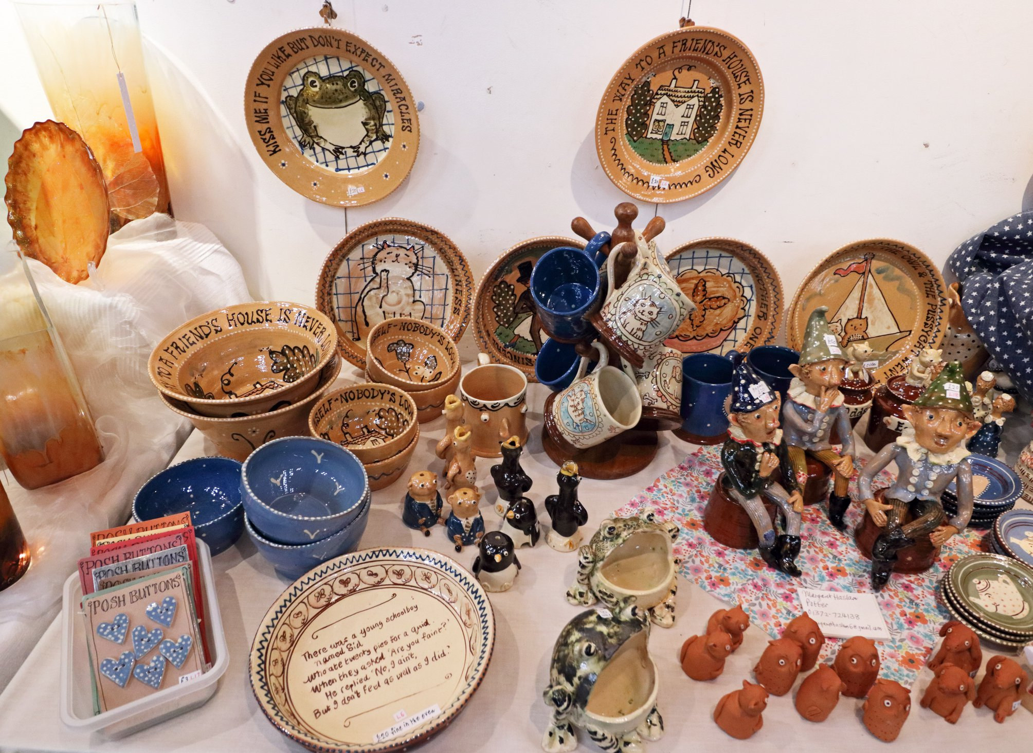 Picture of crafts available at the fair