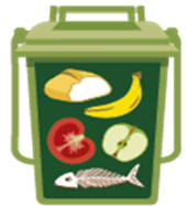 Picture of food waste recycling bin
